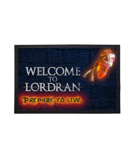 Dark Souls Inspired Orange Soapstone Message Doormat Welcome to Lordran Welcome Mat
